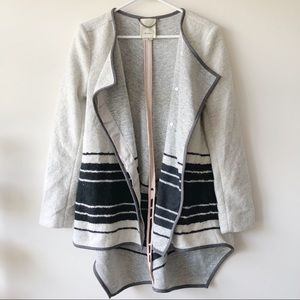 New Anthropologie Elevenses Blanket Coat Stripe